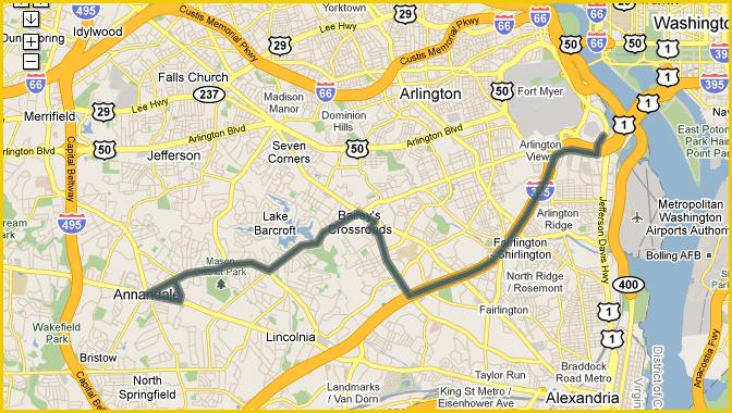 Metrobus 16l Annandale Skyline City Pentagon