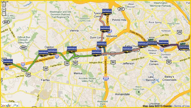 Metrobus 2a Washington Blvd Dunn Loring