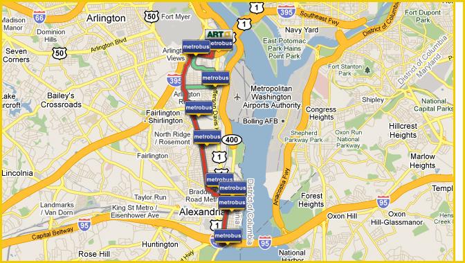 Metrobus Routes Serving Arlington